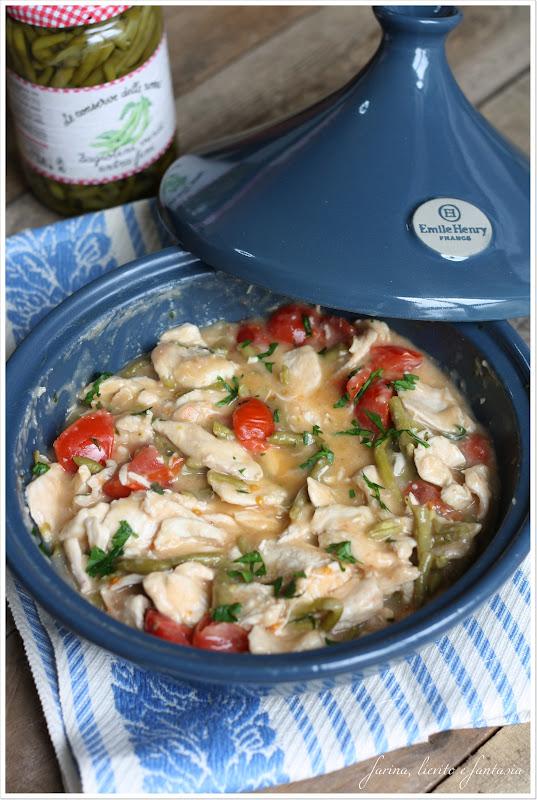 Tajine di pollo con pomodorini e fagiolini | Farina lievito e fantasia