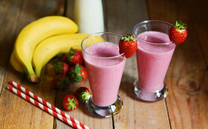 smoothies fragole