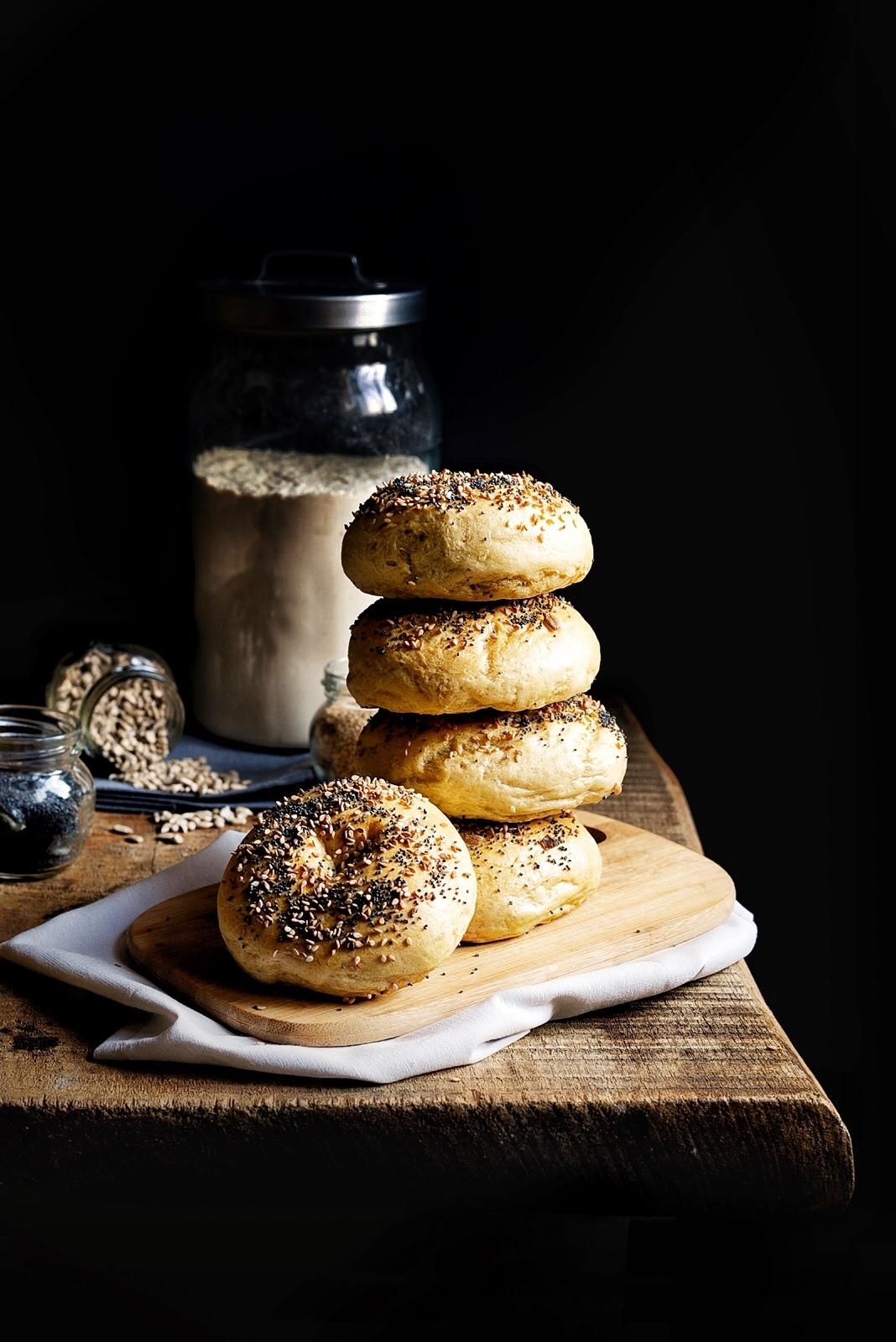 I bagels farina lievito e fantasia - Torte salate decorate ...